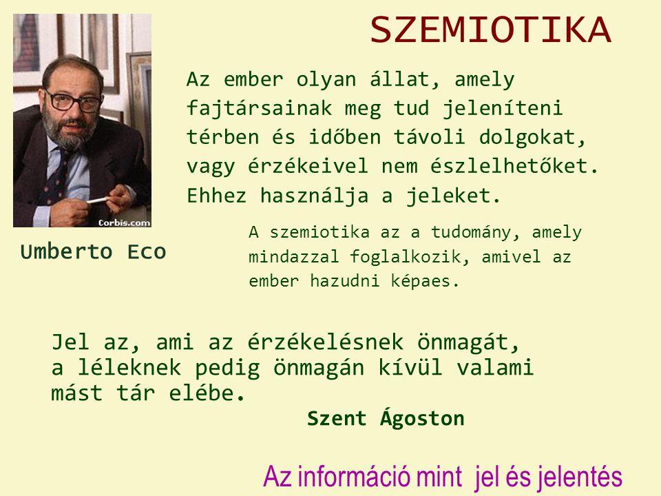 SZEMIOTIKA Az információ mint jel és jelentés