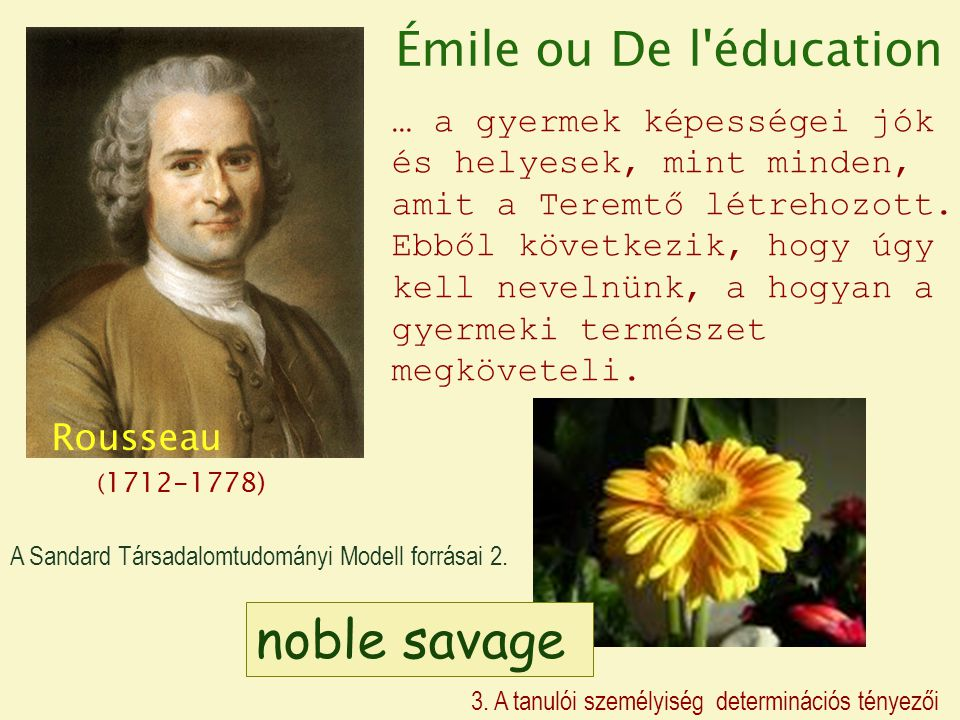 noble savage Émile ou De l éducation Rousseau