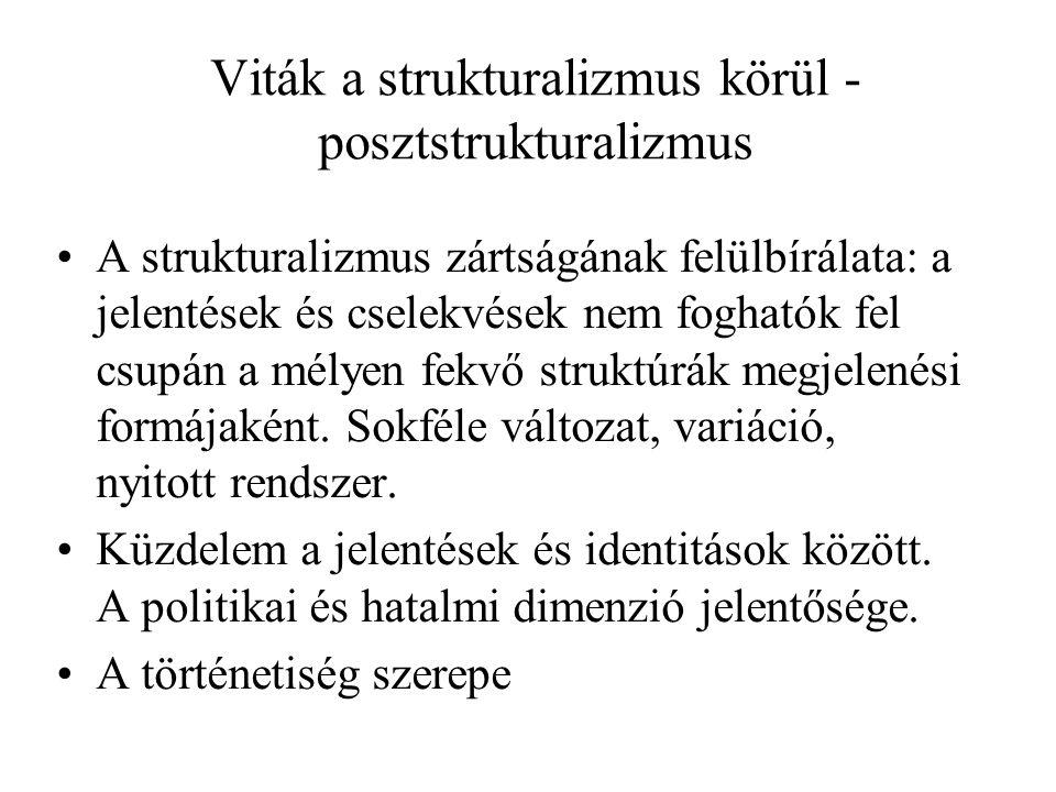 Viták a strukturalizmus körül - posztstrukturalizmus