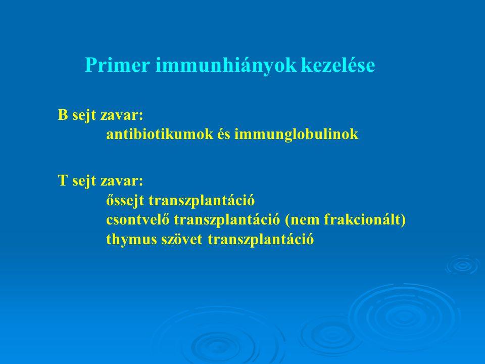Primer immunhiányok kezelése