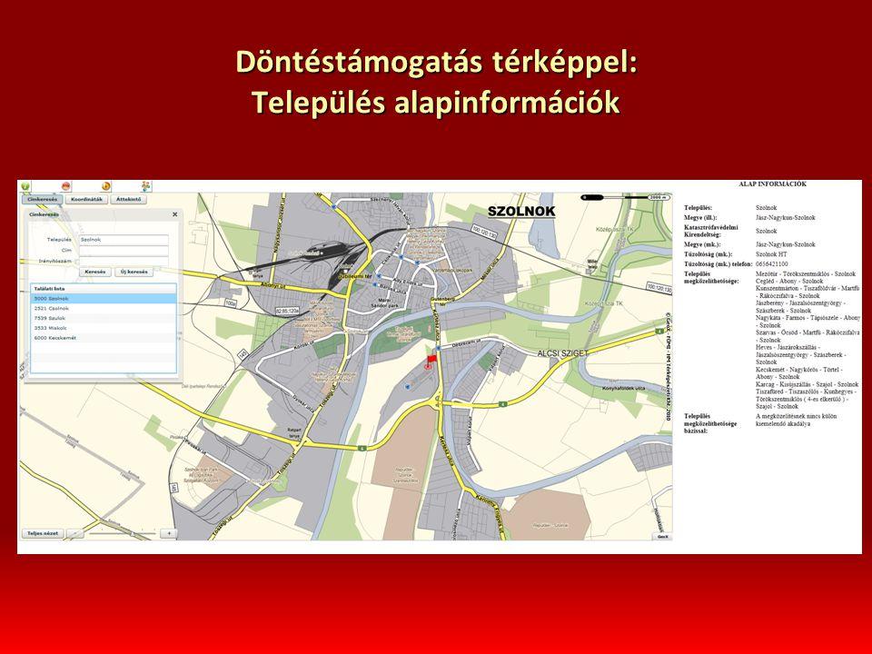 Döntéstámogatás térképpel: Település alapinformációk