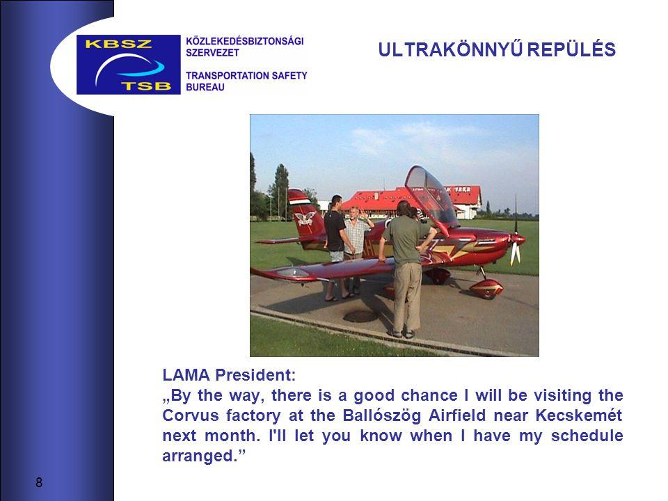 ULTRAKÖNNYŰ REPÜLÉS LAMA President: