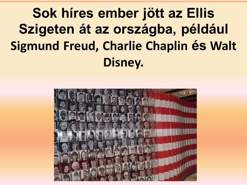 Sok híres ember jött az Ellis Szigeten át az országba, például Sigmund Freud, Charlie Chaplin és Walt Disney.