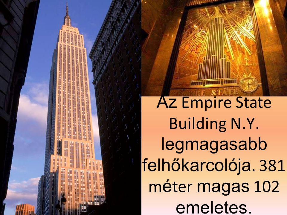 Az Empire State Building N. Y. legmagasabb felhőkarcolója