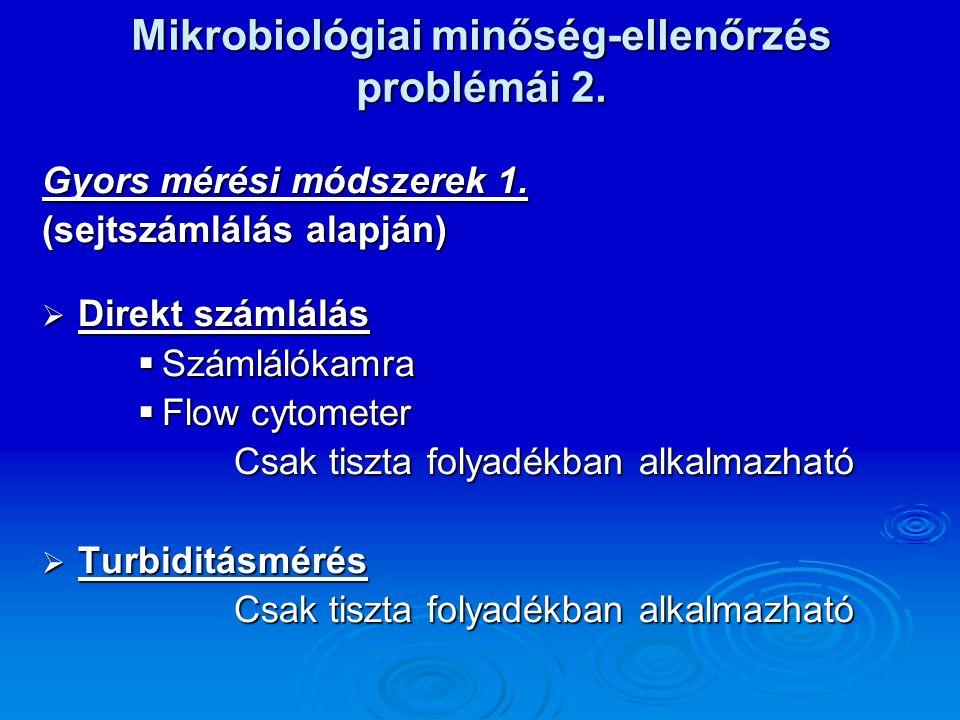 Mikrobiológiai minőség-ellenőrzés problémái 2.
