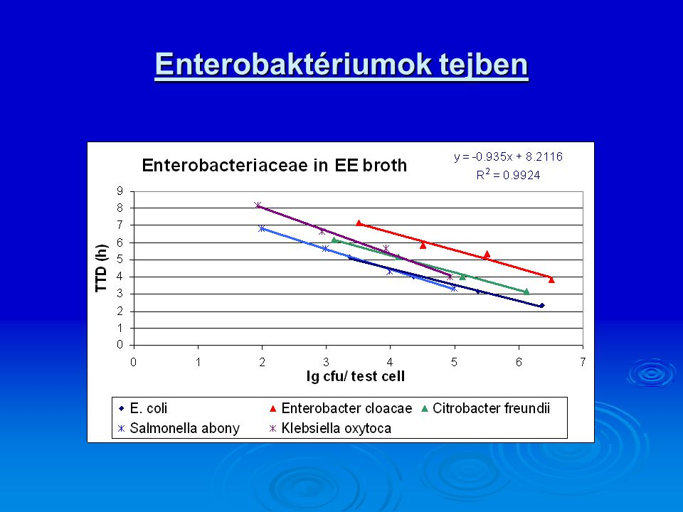 Enterobaktériumok tejben