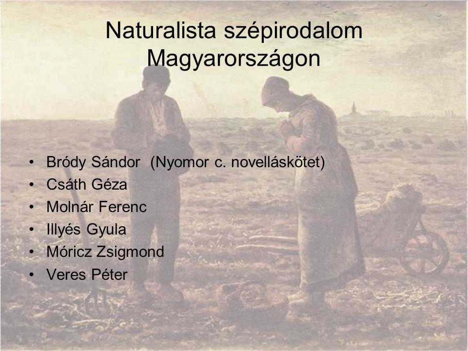 Naturalista szépirodalom Magyarországon