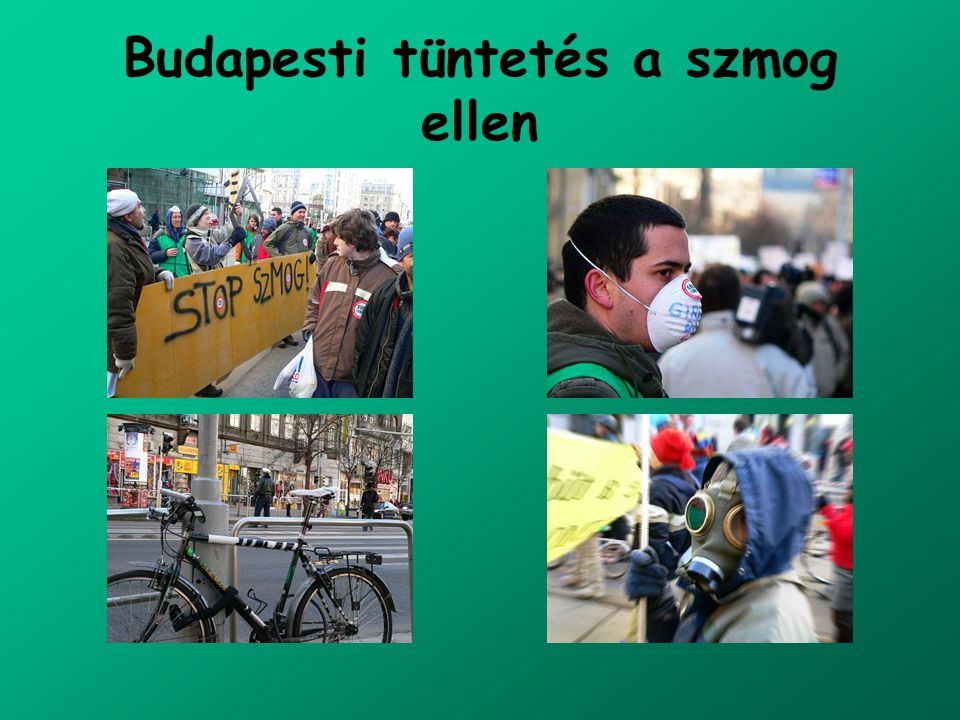 Budapesti tüntetés a szmog ellen