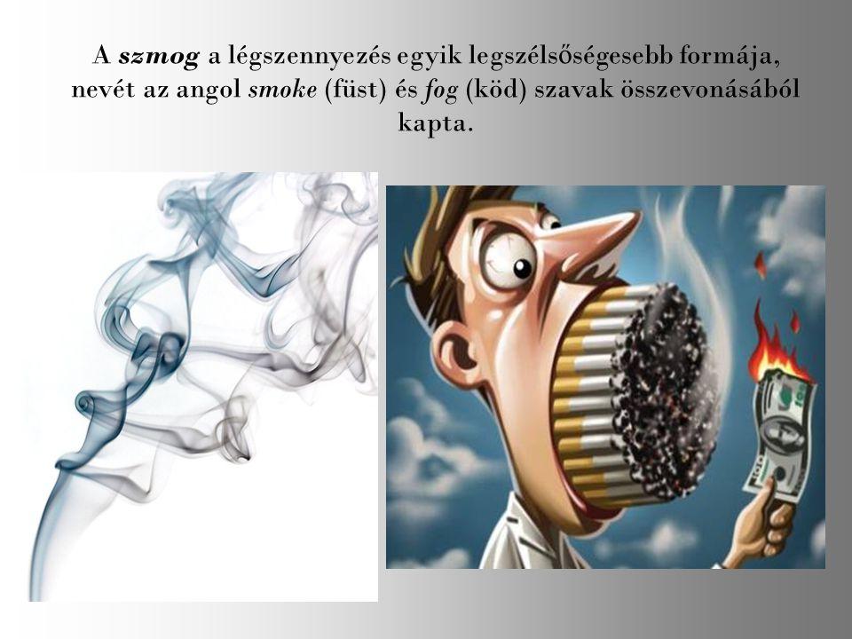 A szmog a légszennyezés egyik legszélsőségesebb formája, nevét az angol smoke (füst) és fog (köd) szavak összevonásából kapta.
