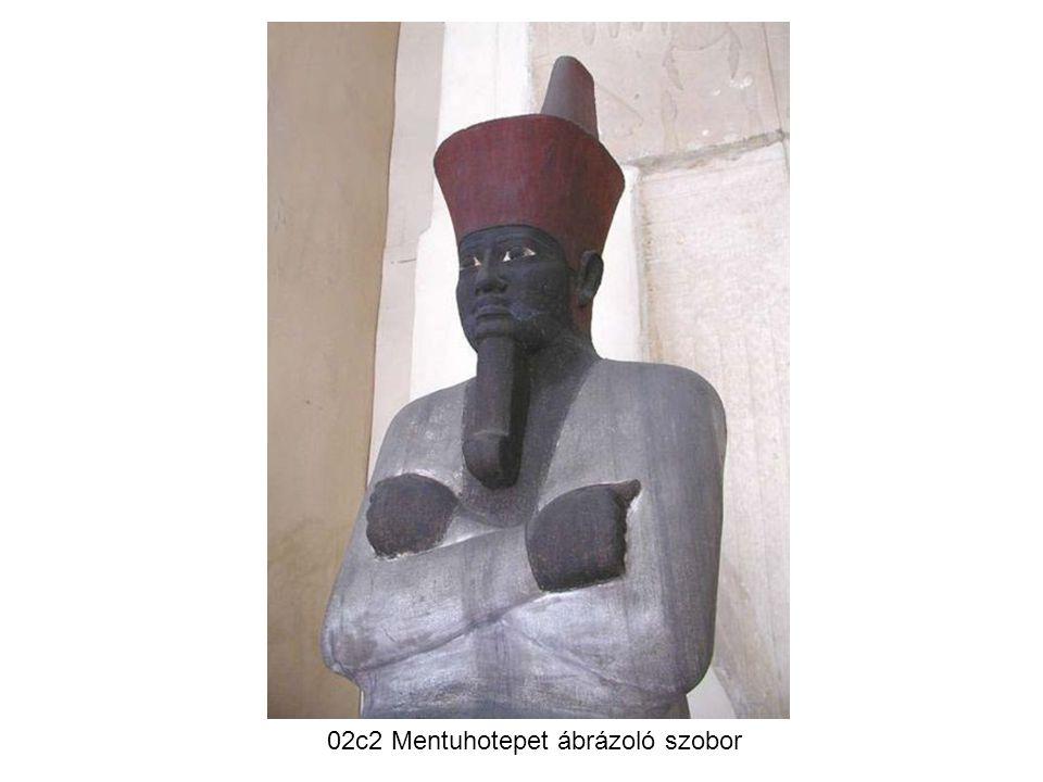 02c2 Mentuhotepet ábrázoló szobor