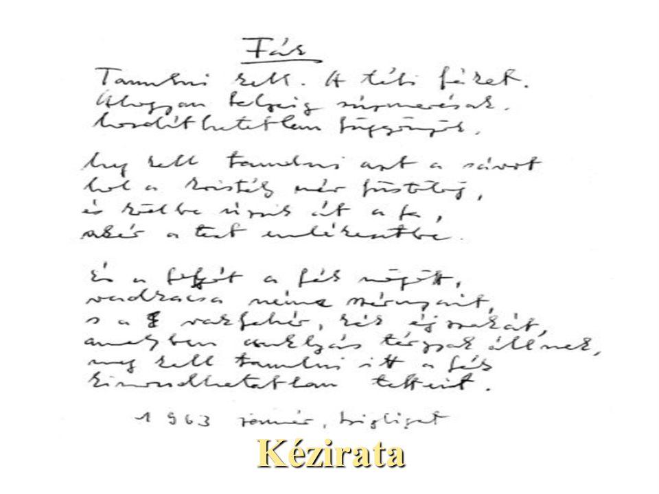 Kézirata
