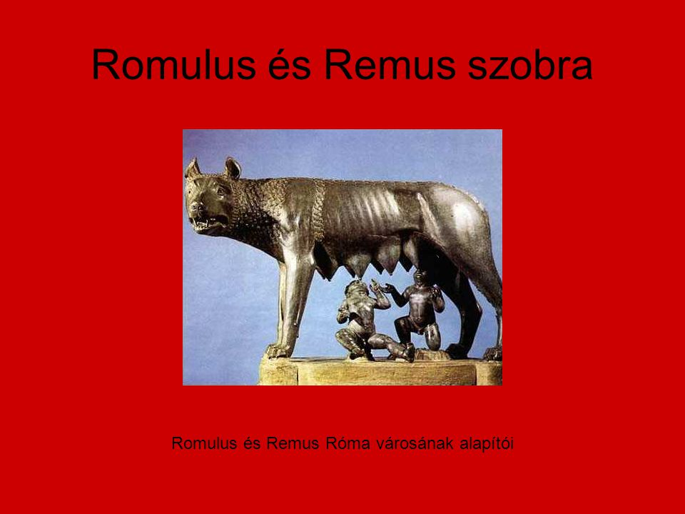 Romulus és Remus szobra