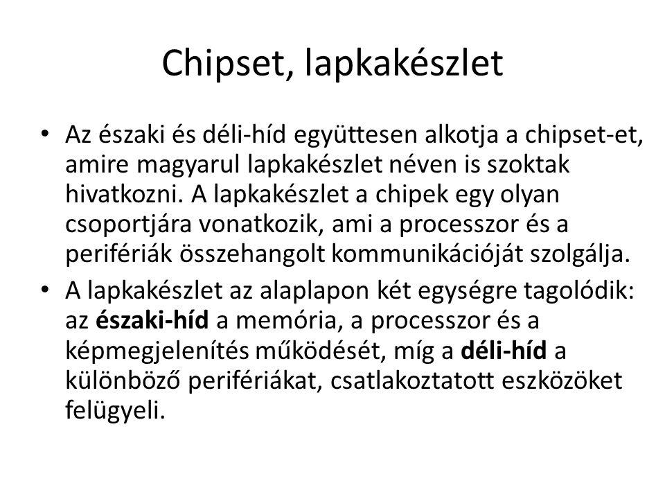 Chipset, lapkakészlet