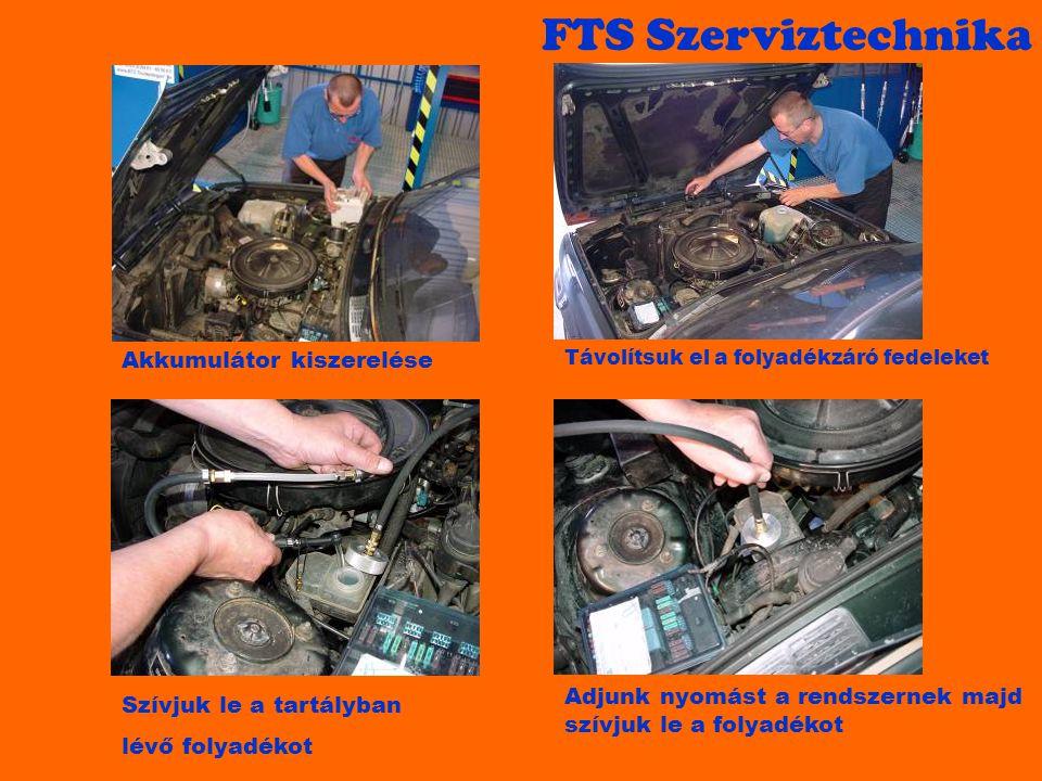 FTS Szerviztechnika Akkumulátor kiszerelése