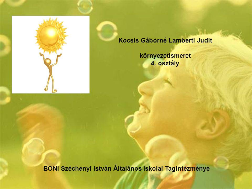 Kocsis Gáborné Lamberti Judit környezetismeret 4. osztály