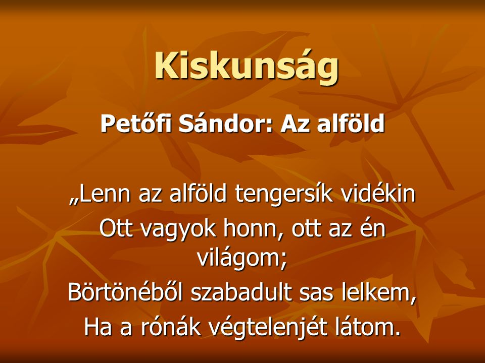 Petőfi Sándor: Az alföld
