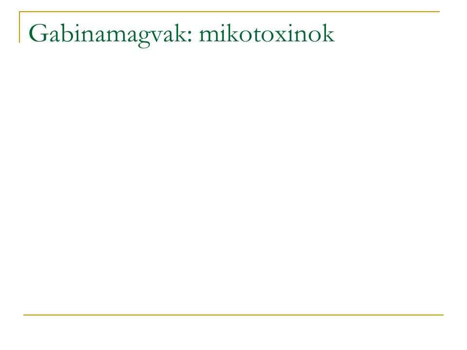 Gabinamagvak: mikotoxinok