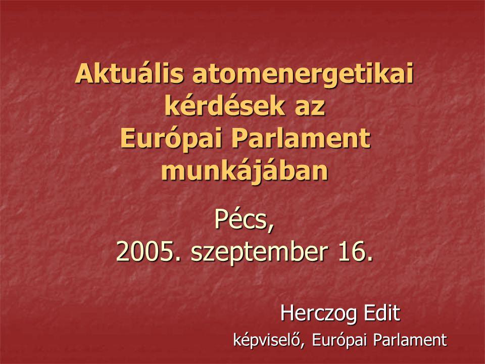 Herczog Edit képviselő, Európai Parlament