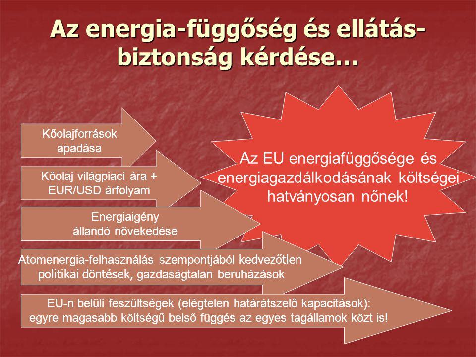 Az energia-függőség és ellátás-biztonság kérdése…