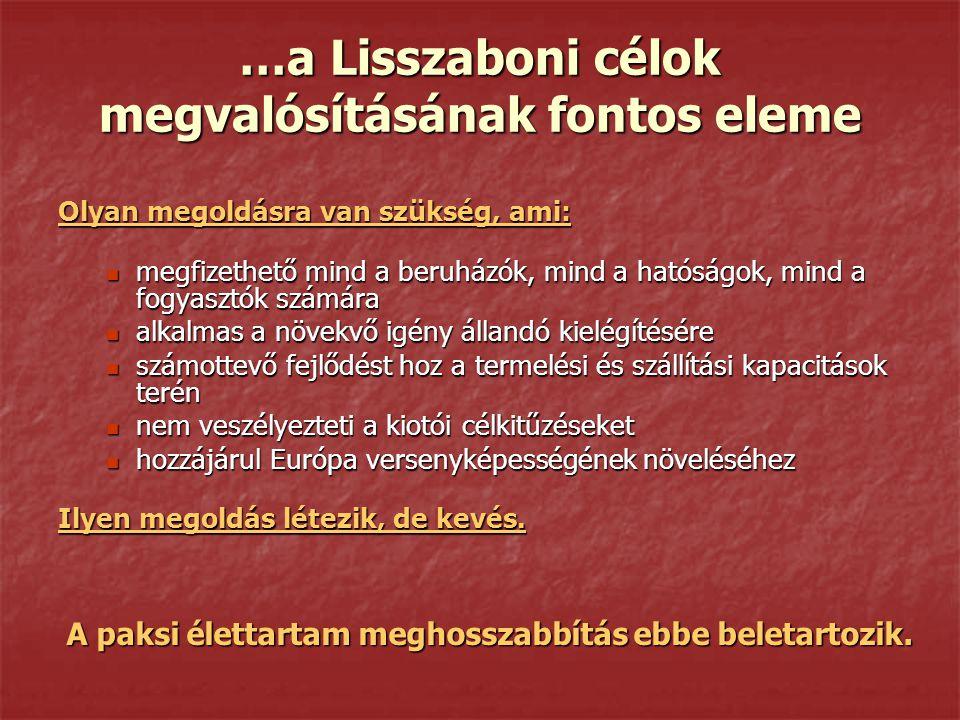 …a Lisszaboni célok megvalósításának fontos eleme