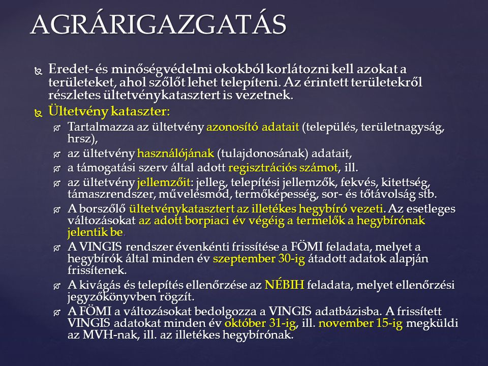 AGRÁRIGAZGATÁS