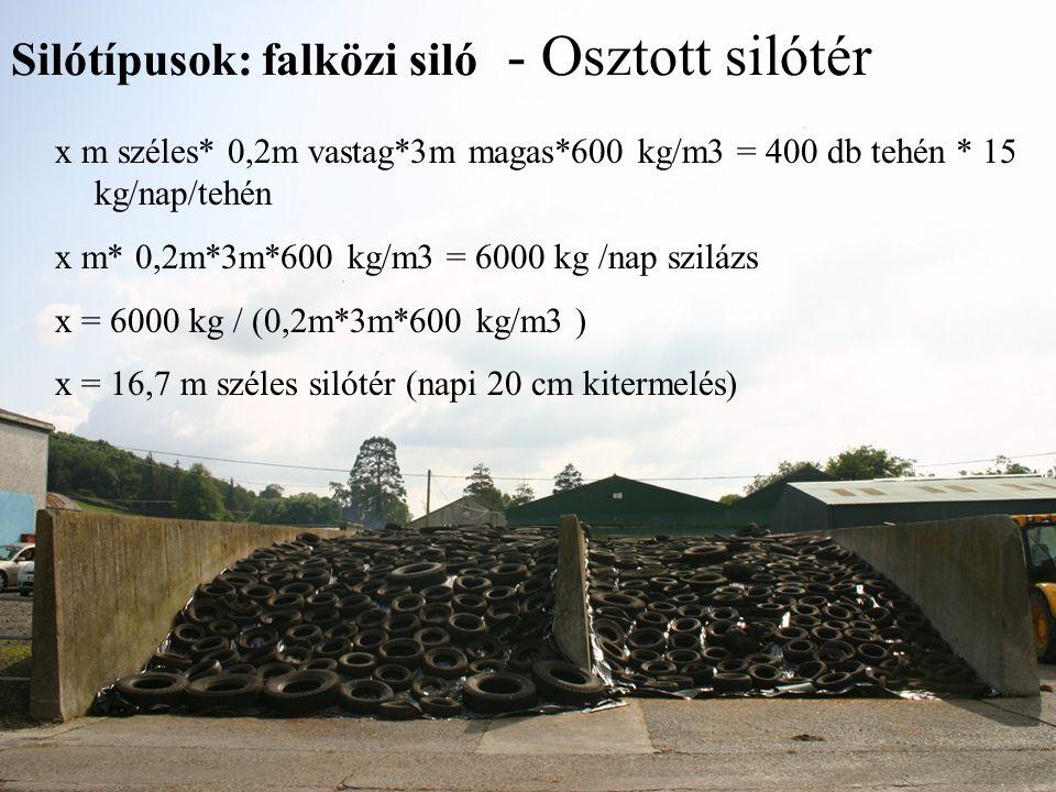 Silótípusok: falközi siló - Osztott silótér