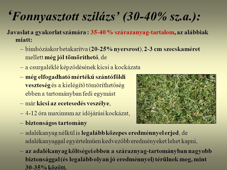 'Fonnyasztott szilázs' (30-40% sz.a.):