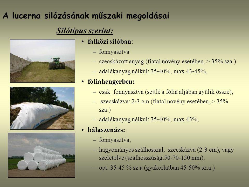 A lucerna silózásának műszaki megoldásai