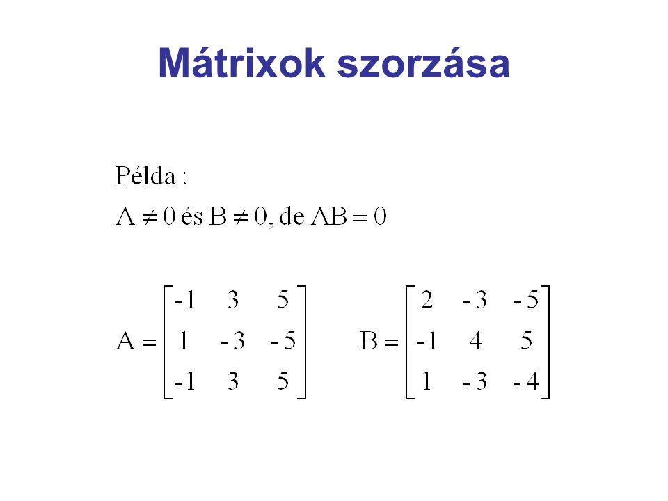 Mátrixok szorzása