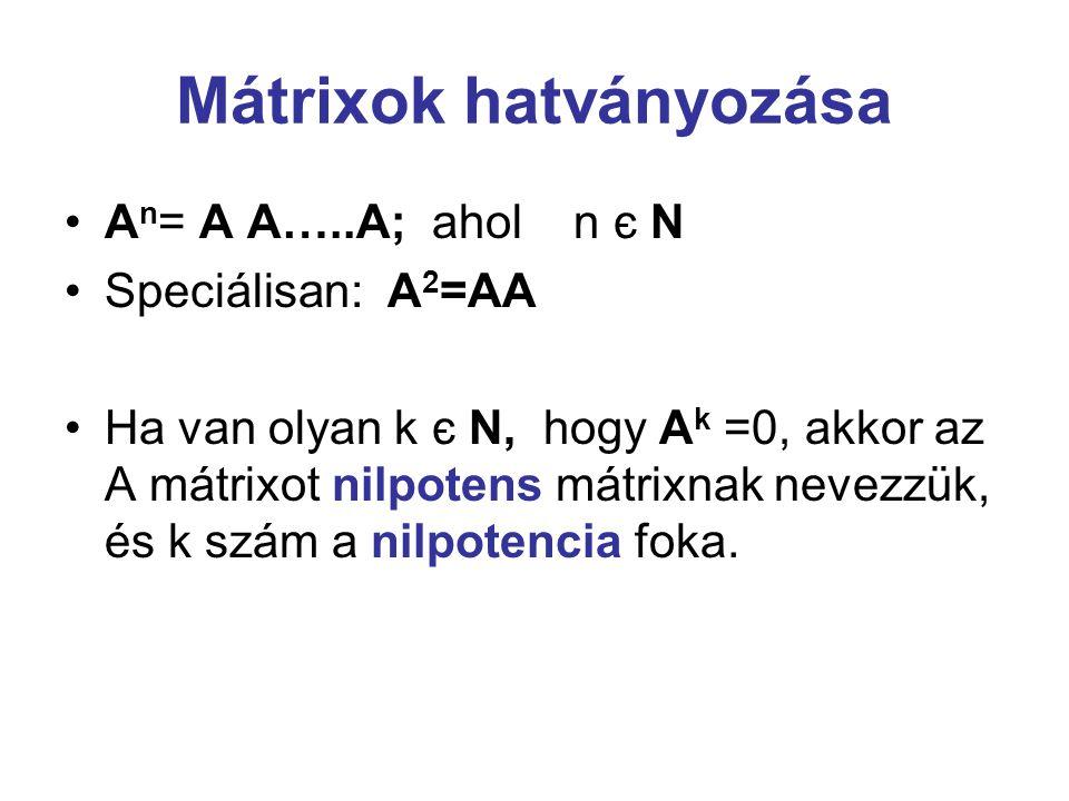 Mátrixok hatványozása