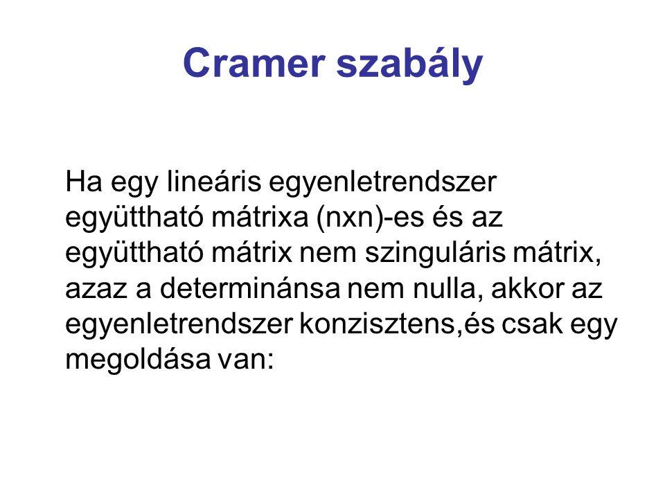 Cramer szabály