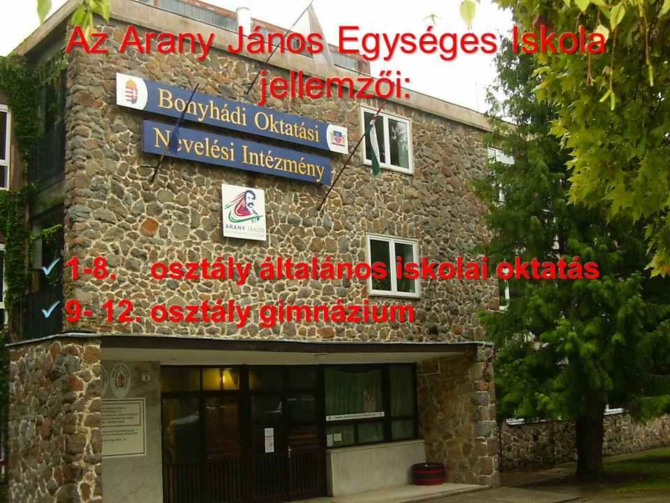 Az Arany János Egységes Iskola jellemzői: