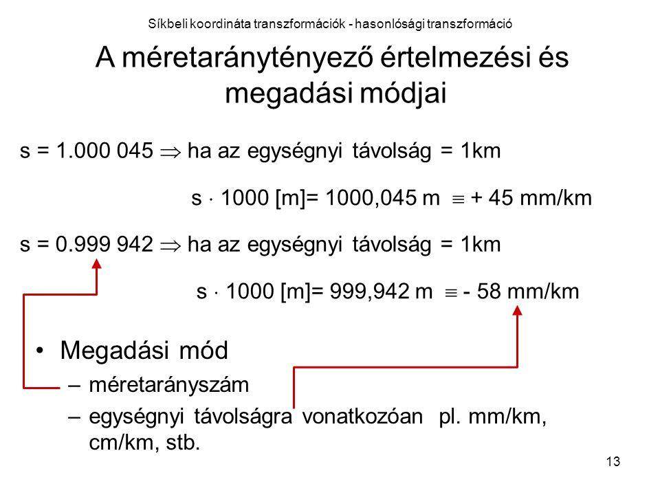 Síkbeli koordináta transzformációk - hasonlósági transzformáció