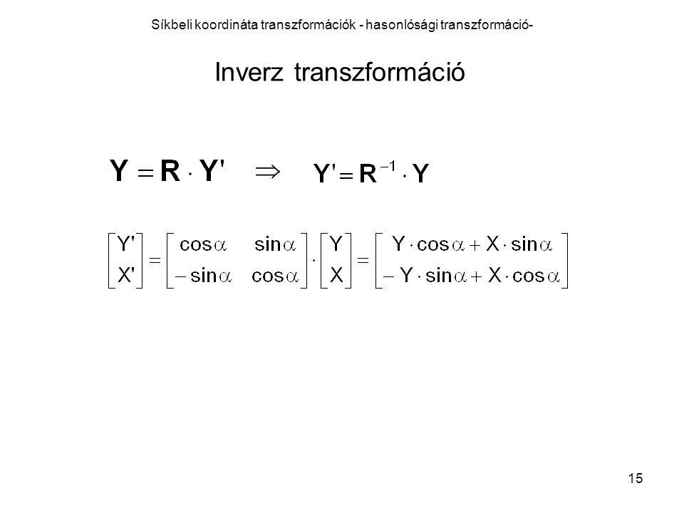 Síkbeli koordináta transzformációk - hasonlósági transzformáció-