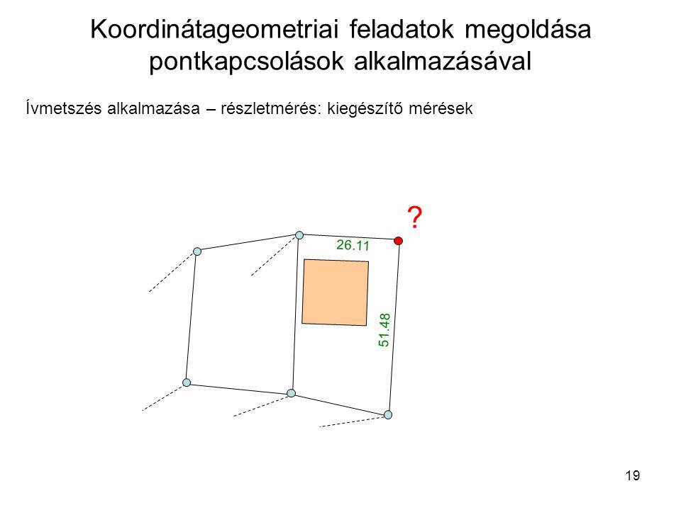 Koordinátageometriai feladatok megoldása pontkapcsolások alkalmazásával
