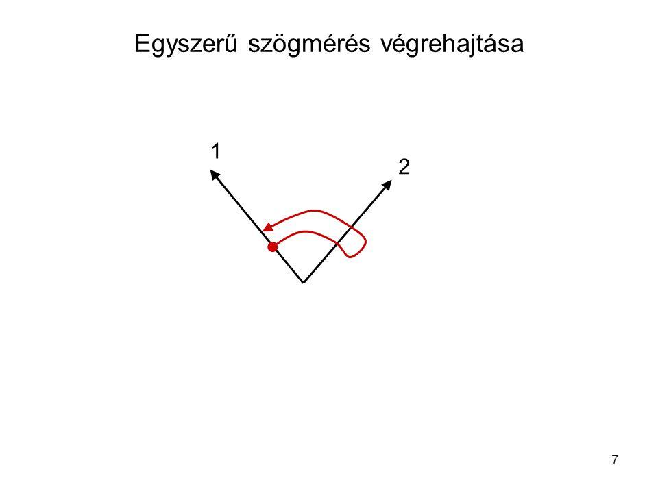 Egyszerű szögmérés végrehajtása