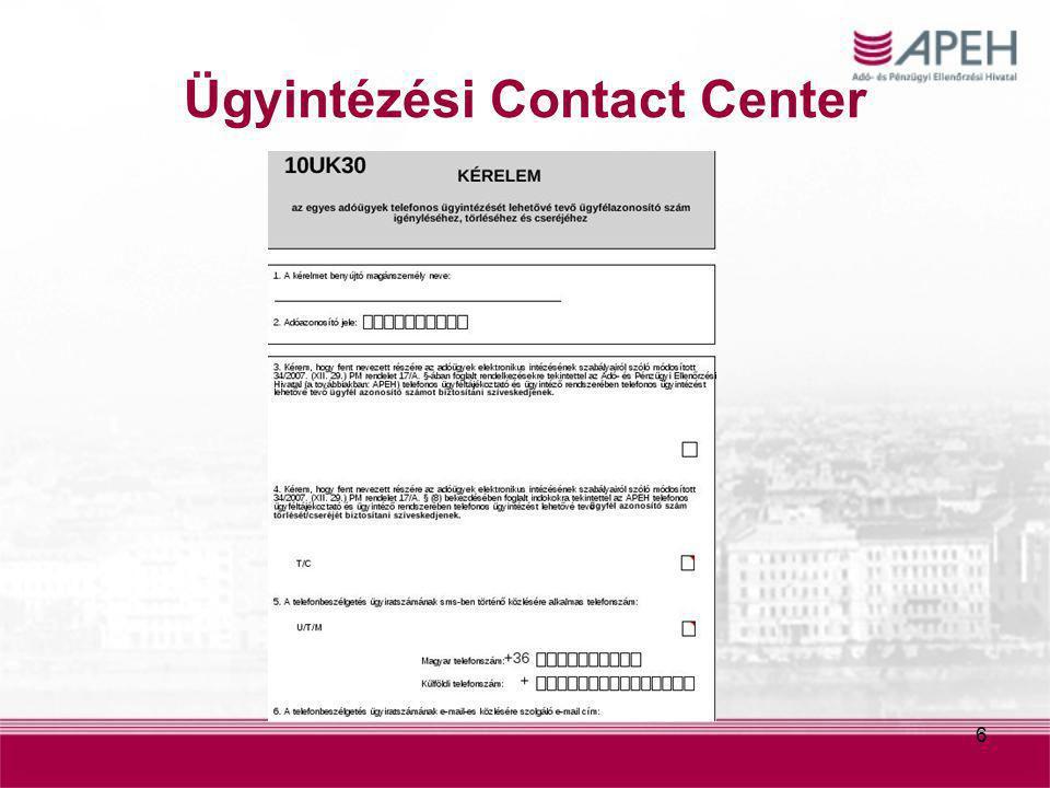 Ügyintézési Contact Center