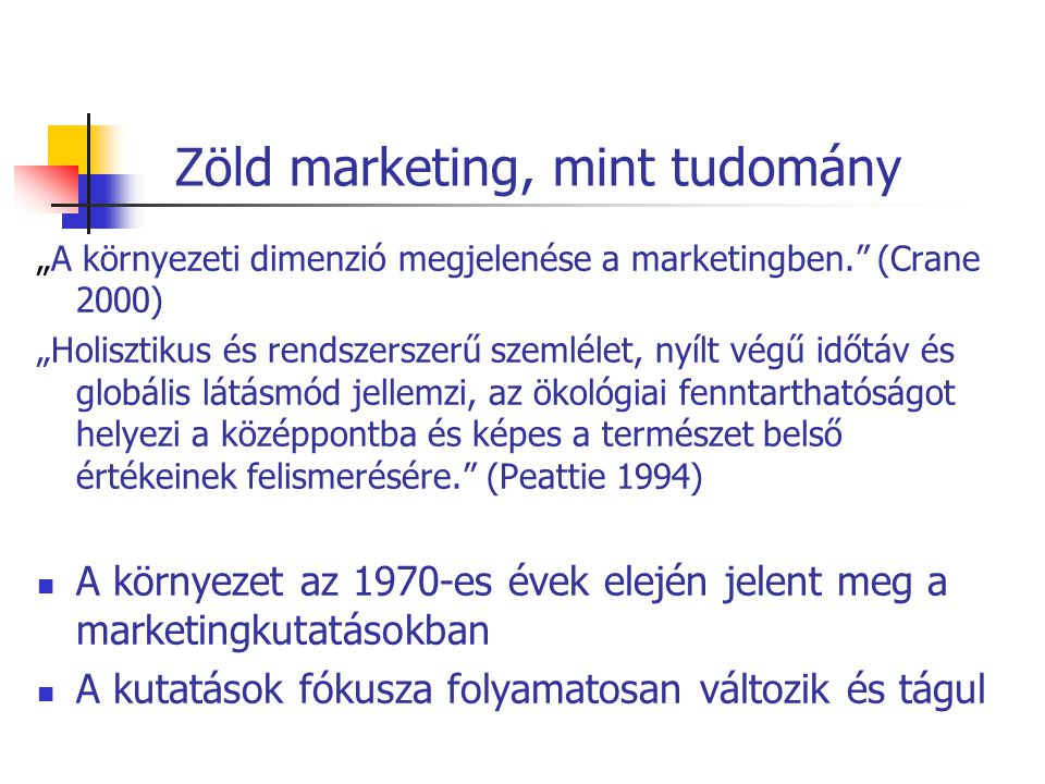 Zöld marketing, mint tudomány