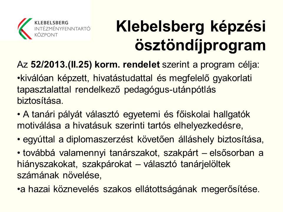 Klebelsberg képzési ösztöndíjprogram