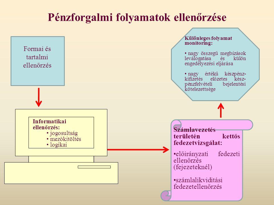 Pénzforgalmi folyamatok ellenőrzése