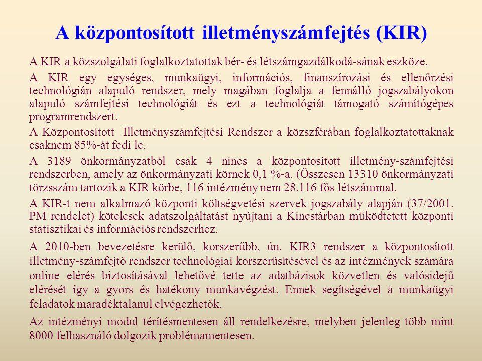 A központosított illetményszámfejtés (KIR)