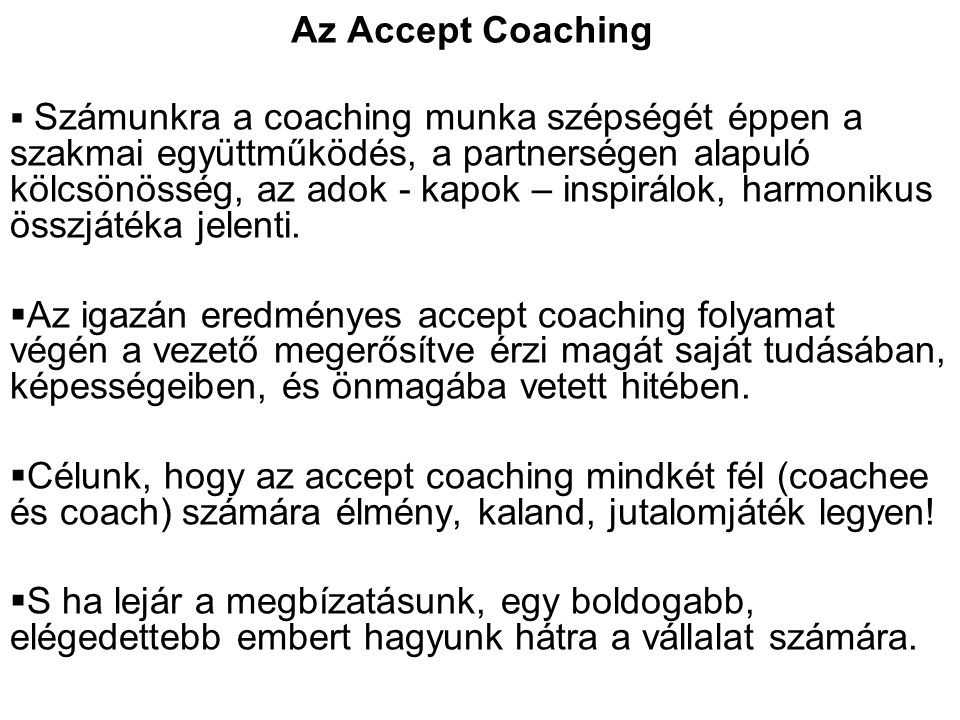 Az Accept Coaching