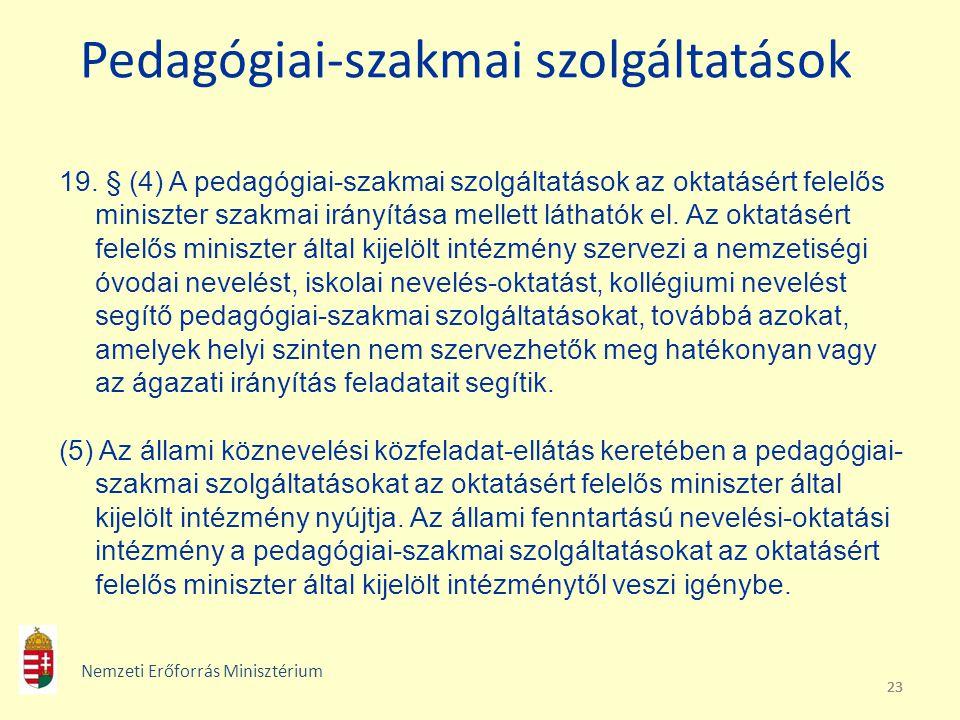 Pedagógiai-szakmai szolgáltatások