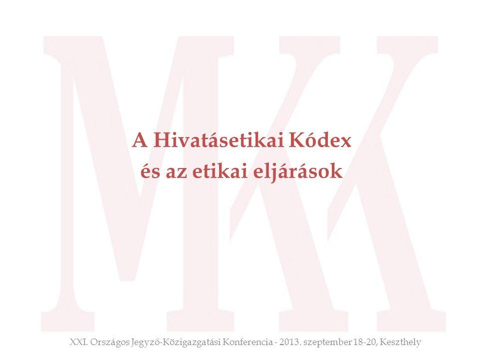 A Hivatásetikai Kódex és az etikai eljárások