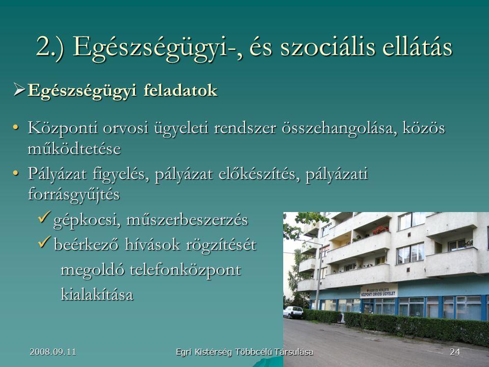 2.) Egészségügyi-, és szociális ellátás