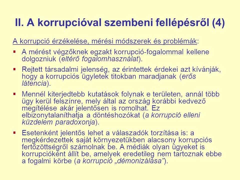 II. A korrupcióval szembeni fellépésről (4)