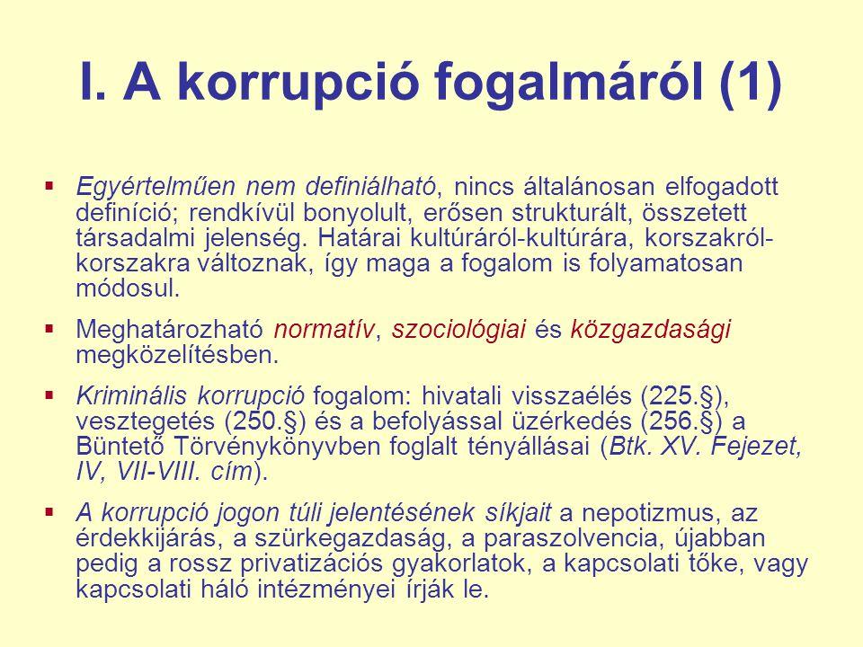 I. A korrupció fogalmáról (1)