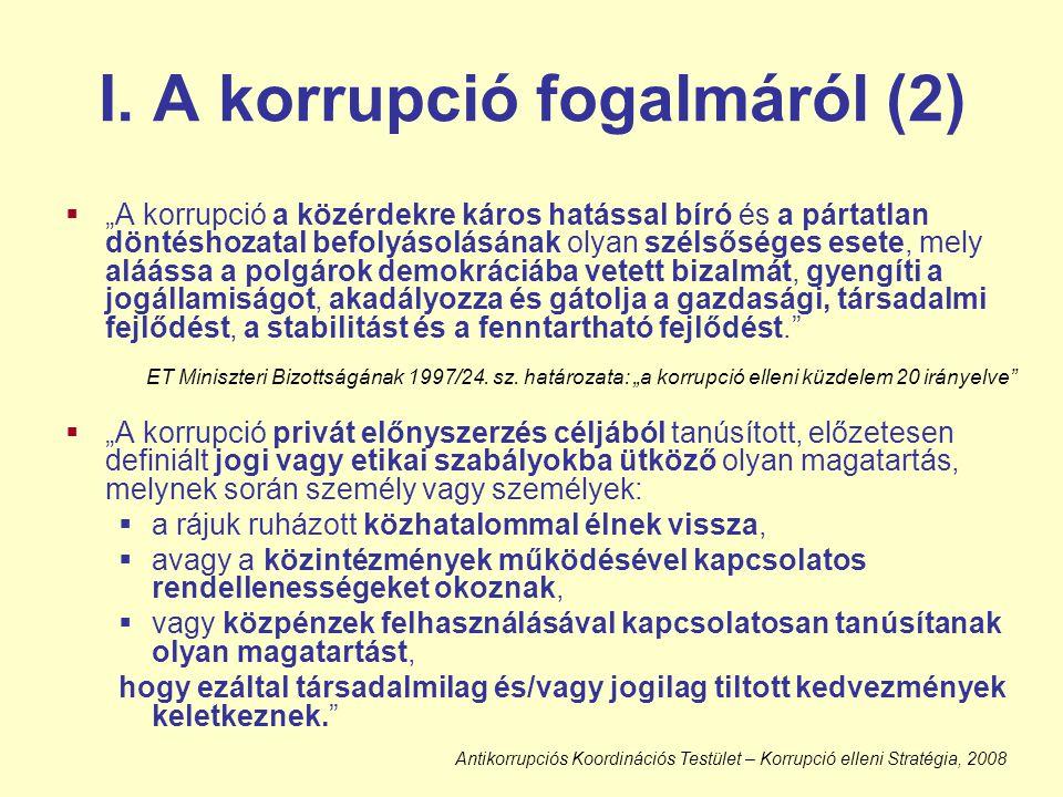 I. A korrupció fogalmáról (2)