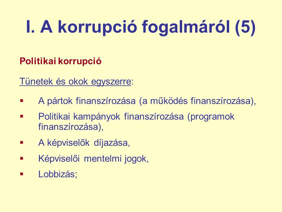 I. A korrupció fogalmáról (5)