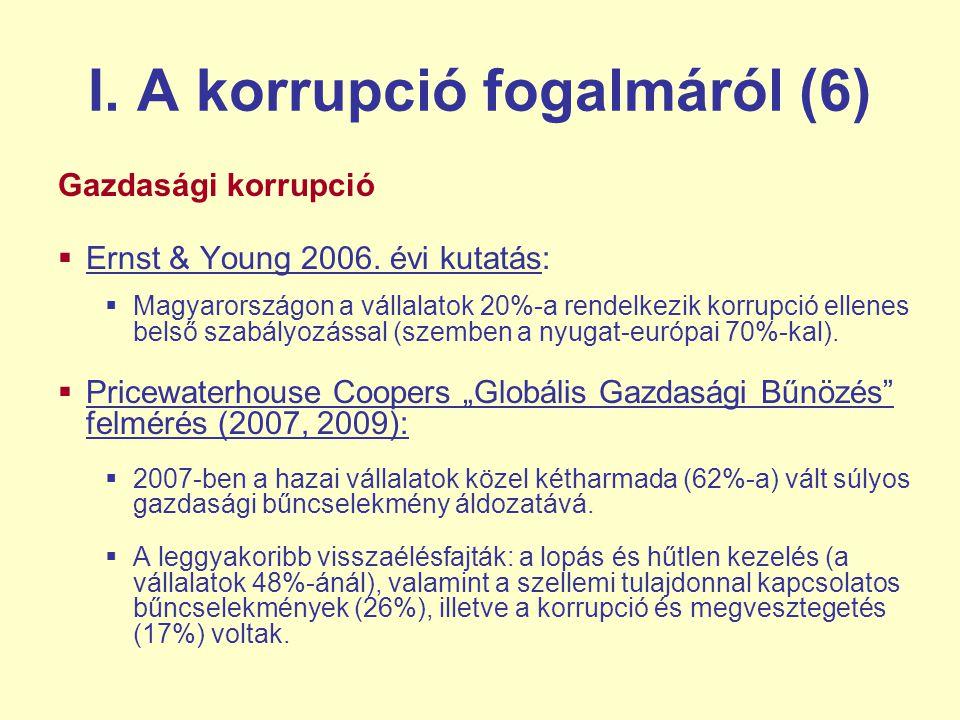 I. A korrupció fogalmáról (6)